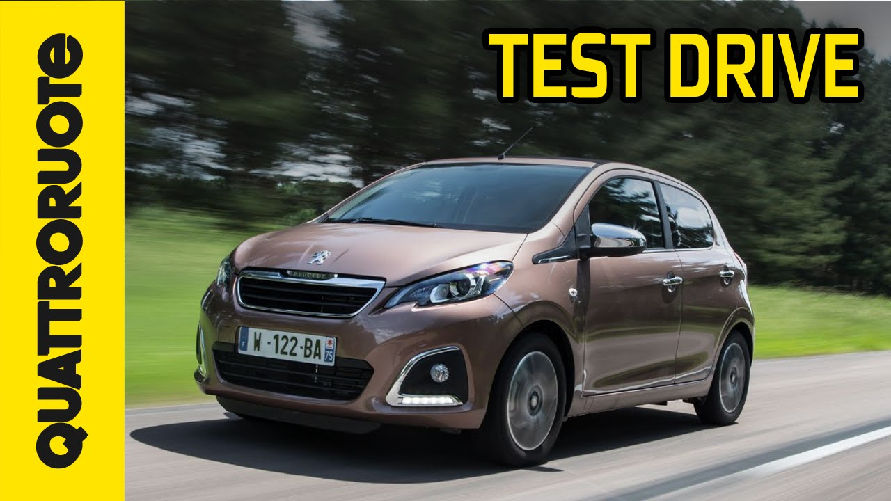 peugeot 108 2014 test drive - youtube