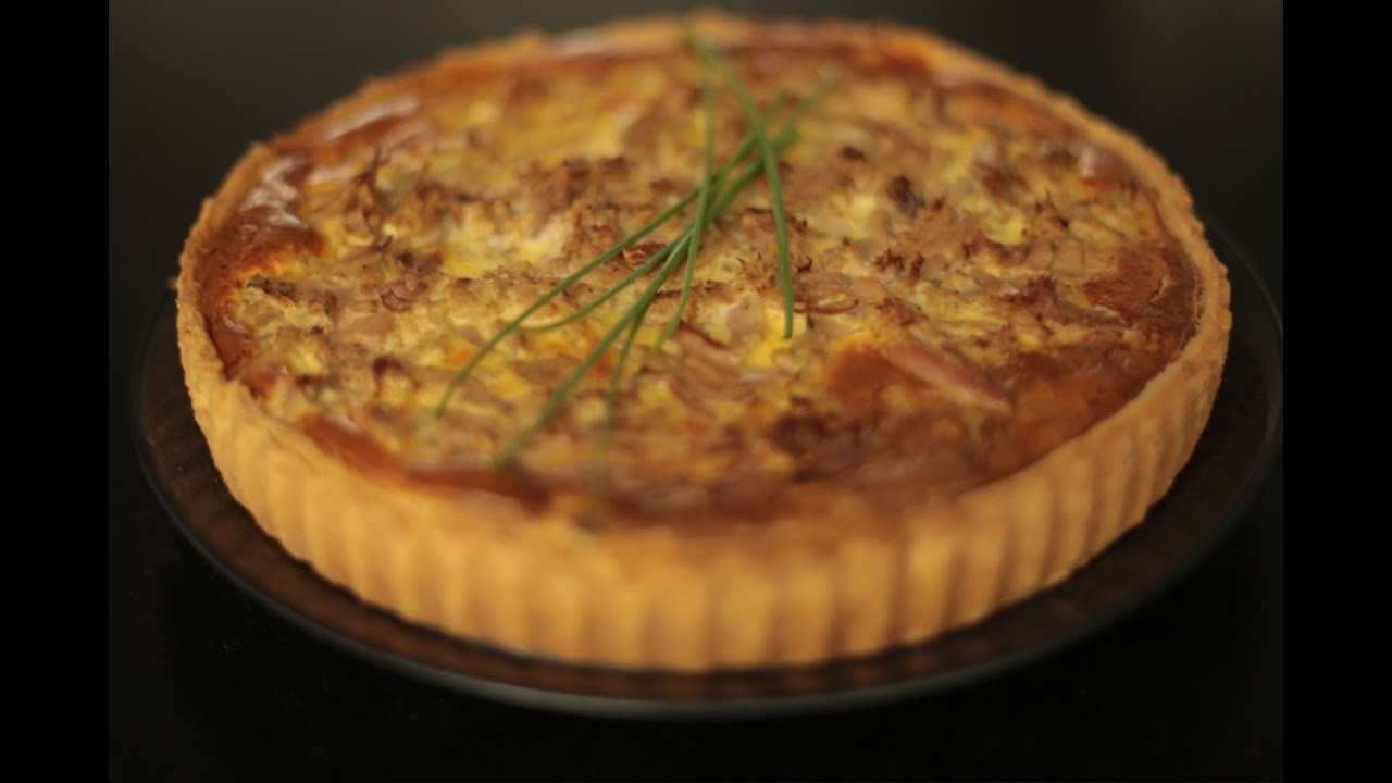 recette de la tarte au thon poivron et herbes par herv cuisine youtube. Black Bedroom Furniture Sets. Home Design Ideas