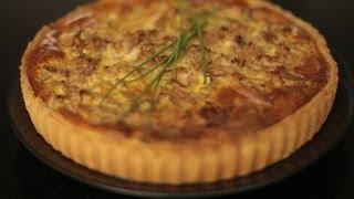 Recette de la tarte au thon, poivron et herbes par Hervé Cuisine