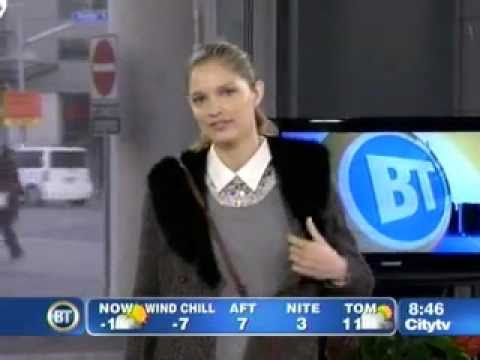 A Chic Winter Outfit from Banana Republic on Breakfast Television Toronto