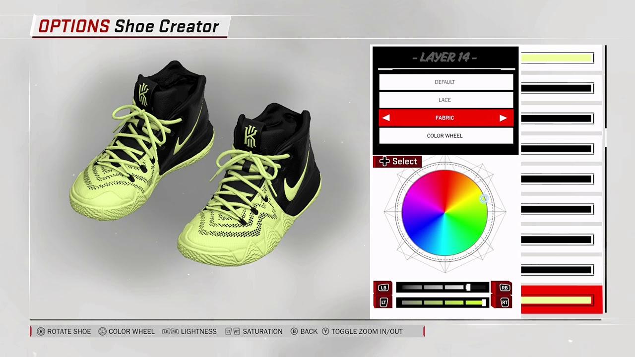 NBA 2K18 Shoe Creator - Nike Kyrie 4 PE