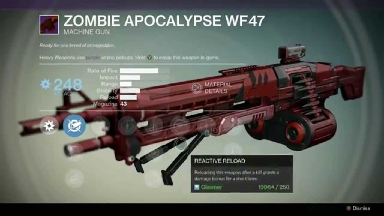 best legendary machine gun destiny