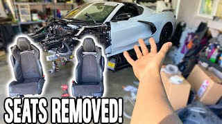 WAS RODWAVE WEARING HIS SEAT BELT?-FIXING HIS C8's INTERIOR!!
