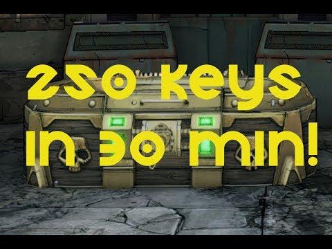 Borderlands 2 | Over 250 gold keys in 30 mins (SHiFT code method)