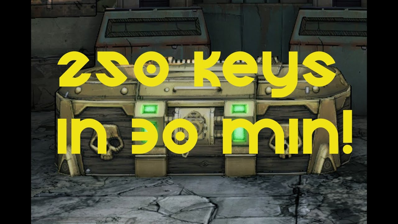 Borderlands 2 | Over 250 gold keys in 30 mins (SHiFT code method)