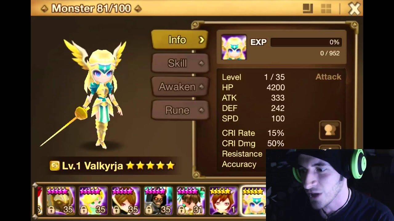 Summoners War Fusion Hexagram Wind Valkyrja Finally