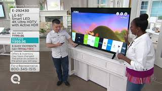 """LG 65"""" Smart LED 4K Ultra HDTV with Active HDR on QVC"""