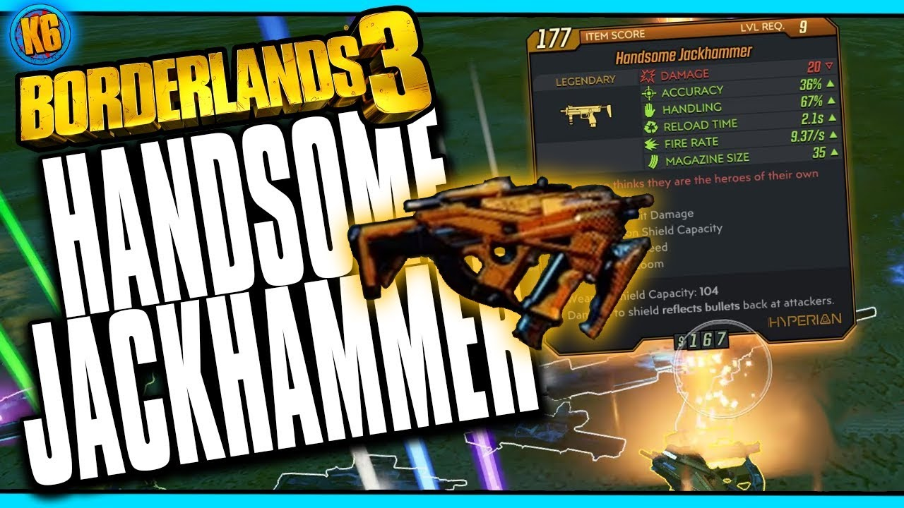 Borderlands 3 - New Legendary - HANDSOME JACKHAMMER thumbnail