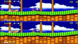 Sonic The Hedgehog 2 (Sega Genesis/PS3) 2 Player VS. (Popoman100 vs. SlientkilerX)