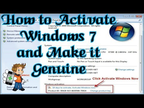 How To Activate Windows 7 & Make It Genuine Without Any Activation Software Or Loader 100% Working