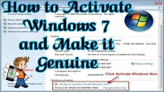 How to make Windows 7 Ultimate Genuine for Free Without any Activator or Loader 100% Working