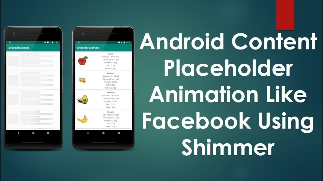 Android Content placeholder Animation like Facebook using Shimmer