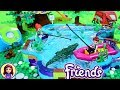 Lego Lake with Real Water - Lego Friends Mia's House Backyard Custom Build DIY Silly Play