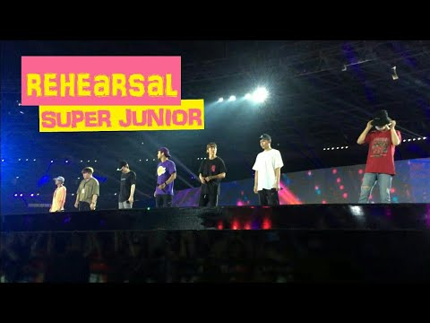 REHEARSAL SUPER JUNIOR AT CLOSING CEREMONY ASIAN GAMES