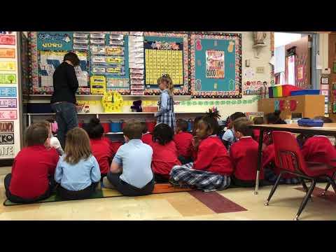 "Kindergarten ""morning meeting"" at St. Rose Philippine Duchesne School"