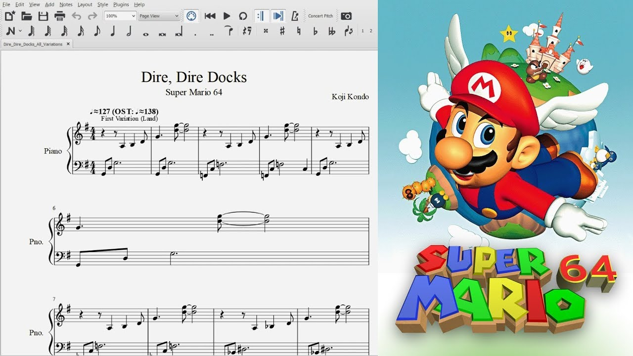 Dire Dire Docks and Variations ~ Violin Cover