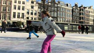 ice skating on amsterdam canals winter 2012 cinematic orchestra to build a home
