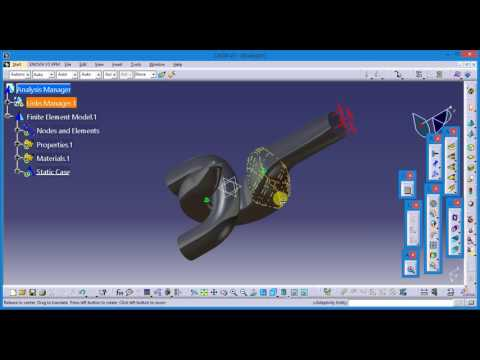 Catia V5 Hook Analysis With Load
