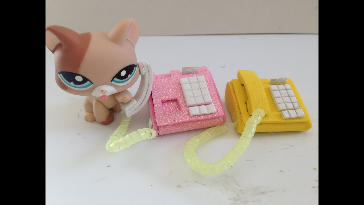 How to how to make phone cases out of paper : How to make a LPS/Doll Phone: LPS accessories - YouTube