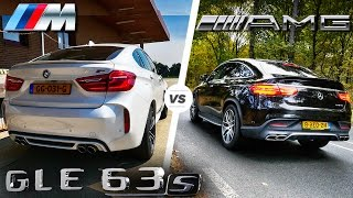 BMW X6 M vs GLE 63 S AMG HEAD to HEAD