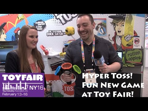 Hyper Toss New Game From Moose Toys At Toy Fair 2016!