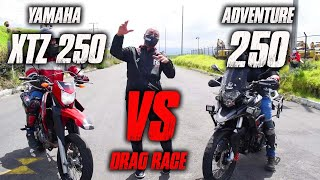XTZ 250 VS Adventure 250 Batalla a Muerte Drag Race