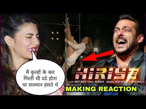 Race 3 Hiriye song jacqueline fernandez Reaction on Hiriye song making ( poll Dance ) Salman khan