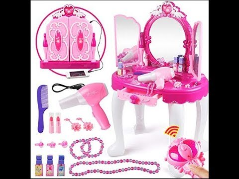 Glamour Mirror and Dressing Table Set for kids