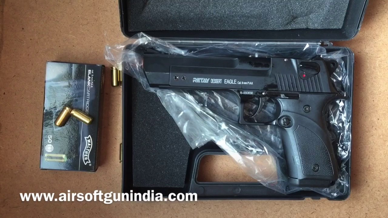 Retray Desert eagle 9mm blank gun in India by airsoft gun india