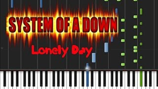 System Of A Down - Lonely Day [Piano Cover Tutorial] (♫)