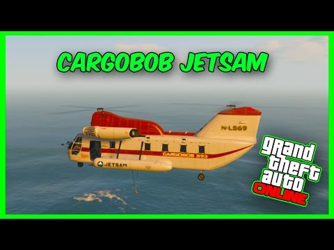 GTA 5 Online DLC - New 'CARGOBOB JETSAM'' Helicopter Showcase! (Finance & Felony DLC)