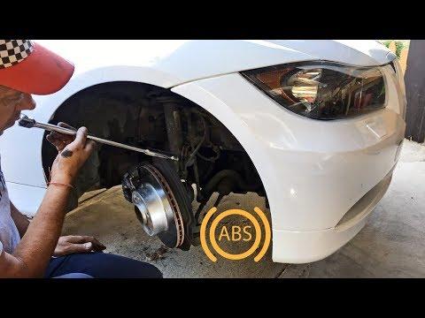 HOW TO REPLACE ABS SENSOR SPEED SENSOR ON BMW E90 E91 E92 E93