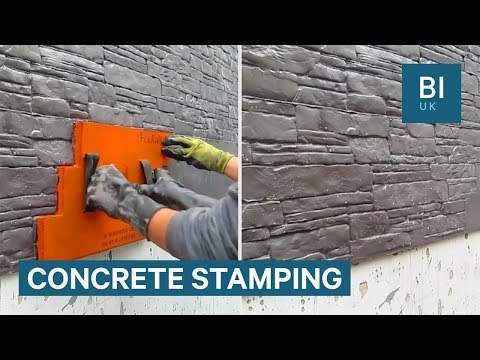 These stamps can make plain concrete look like masonry