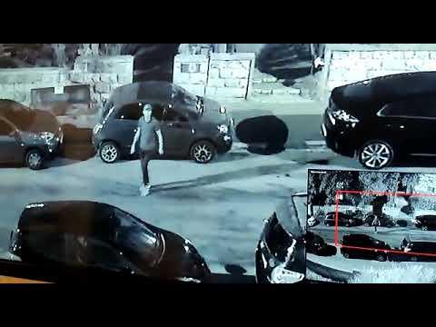 הפריצה לרכב ברחוב משה הס. צילום: פרטי