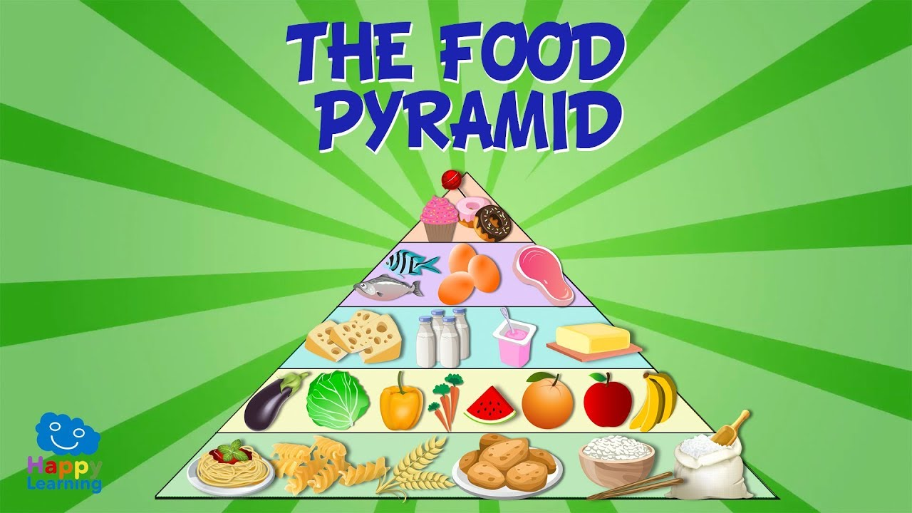 THE FOOD PYRAMID | Educational Video for Kids