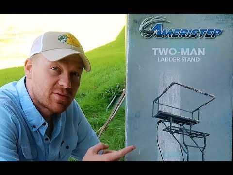 Best Budget Deer Stand - Ameristep 15-Feet Two Man Ladder Stand - UNBOX and  INSTALL