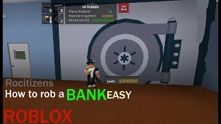 ROBLOX - How to rob a bank in RoCitizen