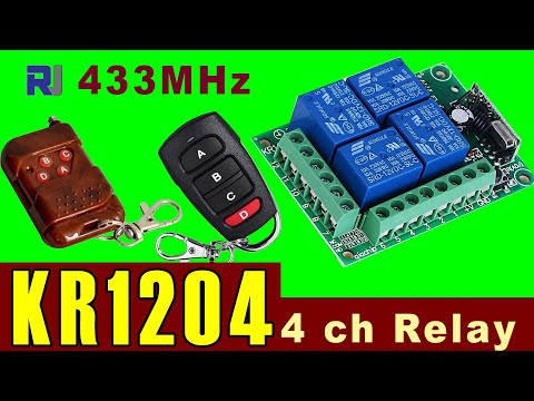 How To Control 4 AC Load Using KR1204 Wireless Remote Relay