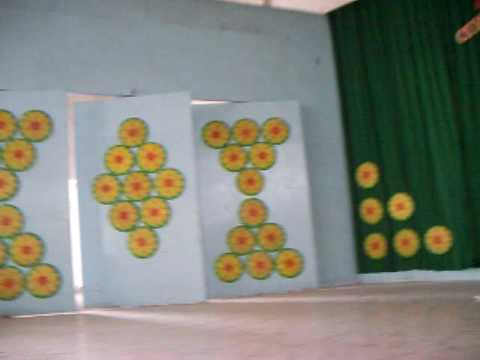 Stage decoration youtube for Annual function decoration