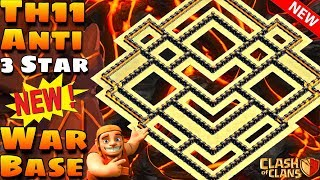 Clash Of Clans | New Th11 Anti 3 Star War Base | Anti Electro | Coc | 2019