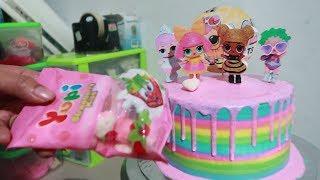 LOL Surprise Dolls Pet Cara Membuat Kue Ulang Tahun LOL Surprise   Menghias Kue Ultah Cake Kekinian