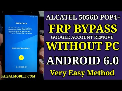 Alcatel 5056D Pop4+ Frp Bypass Google Account Without Pc || Android 6.0 ...
