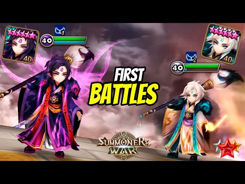 WOW! First Battles With DARK And LIGHT Art Masters. Mookwol And Hanwul In Summoners War