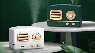 Máy Phun Sương Binbo Mini Hình Đài Cassette Hơi Nước Tạo Ẩm, Khử Mùi Trong Phòng Có Đèn Led Ngủ