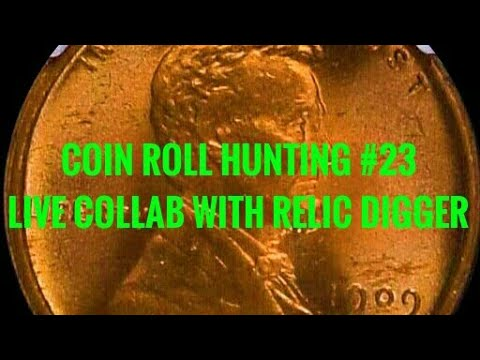 Coin Roll Hunting #23- LIVE COMPETITION WITH RELIC DIGGER!