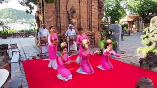 Cham women performing a traditional dance in Nha Trang, Vietnam