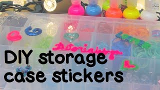How to Make Rainbow Loom Storage Case 3D Stickers