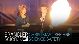 Christmas Tree Fire: Science Safety - Cool Science Experiment