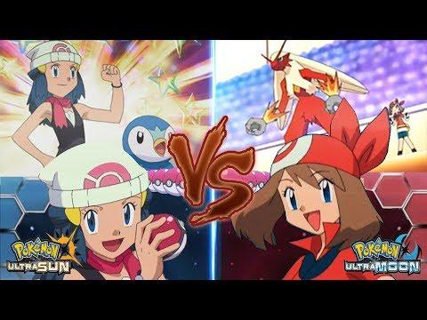 Pokemon Ultra Sun and Ultra Moon: Dawn Vs May (May Vs Dawn Companion Battle)