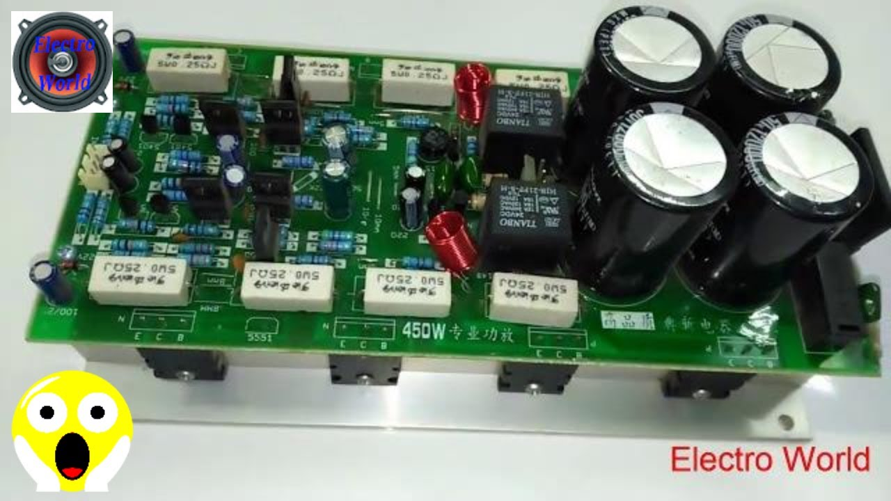 Transistor Amplifier Circuit Using 2sc5200 And 2sa1943 By Electro World 50 Watt